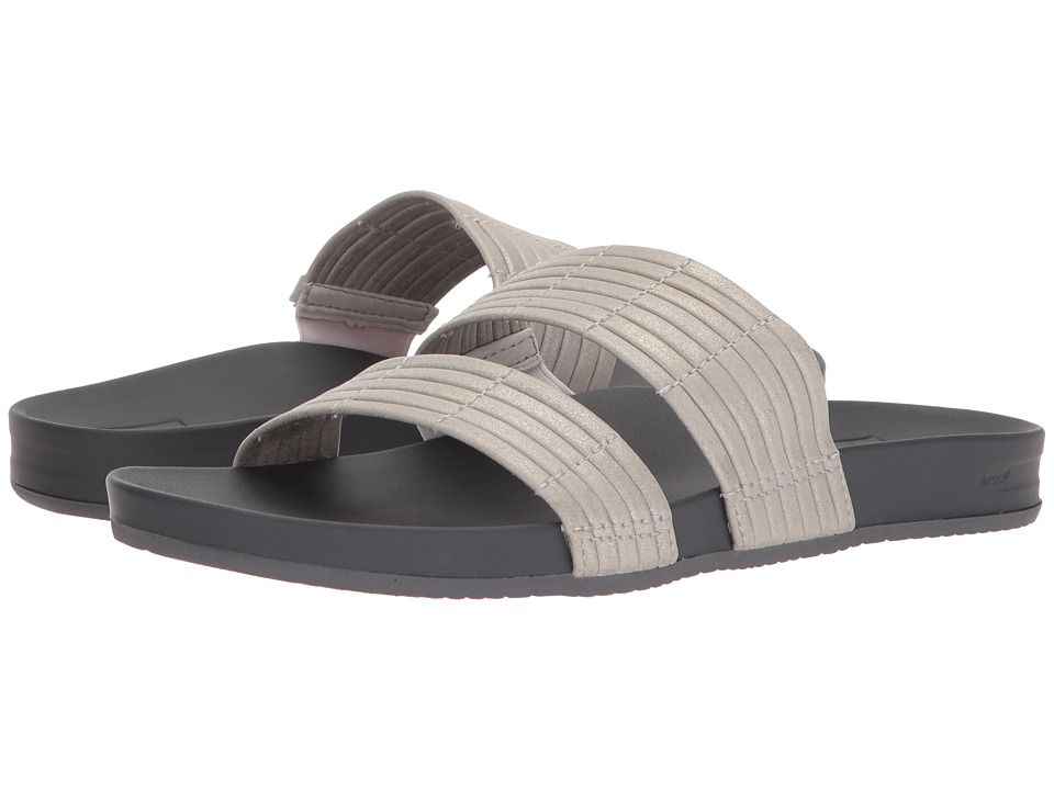 Reef - Cushion Bounce Slide (Silver) Women's Sandals