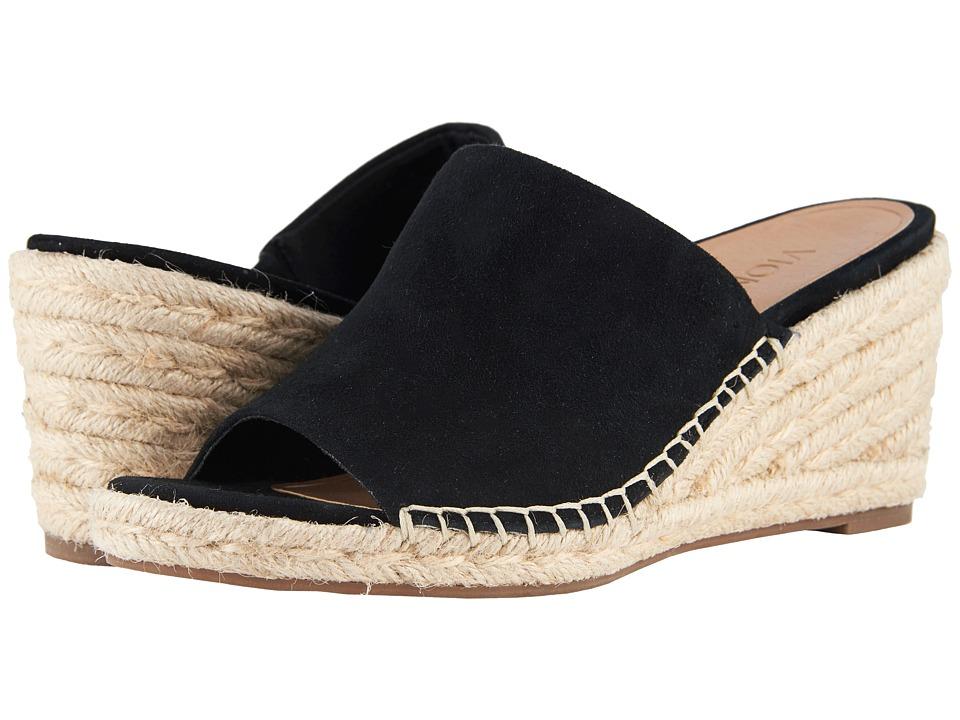 Vintage Sandal History: Retro 1920s to 1970s Sandals VIONIC Kadyn Black Womens Wedge Shoes $129.95 AT vintagedancer.com