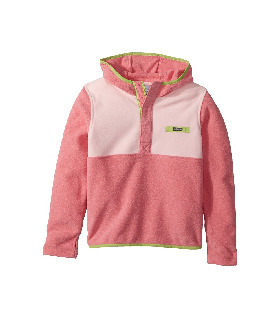Columbia Kids - Mountain Side Fleece Hoodie (Little Kids/Big Kids) (Lollipop Heather/Cherry Blossom/Green Glow) Girls Sweatshirt
