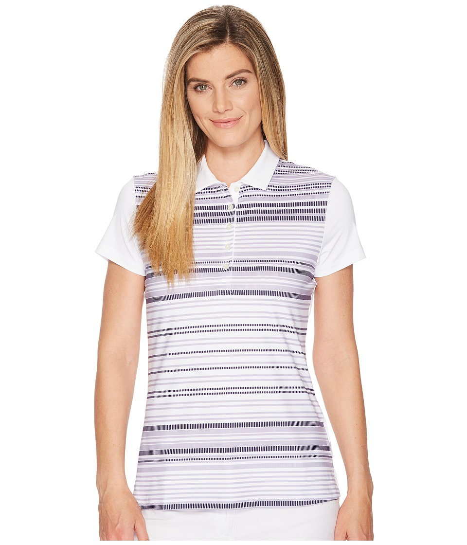 PUMA Golf - Road Map Polo (Bright White/Peacoat) Womens Short Sleeve Pullover