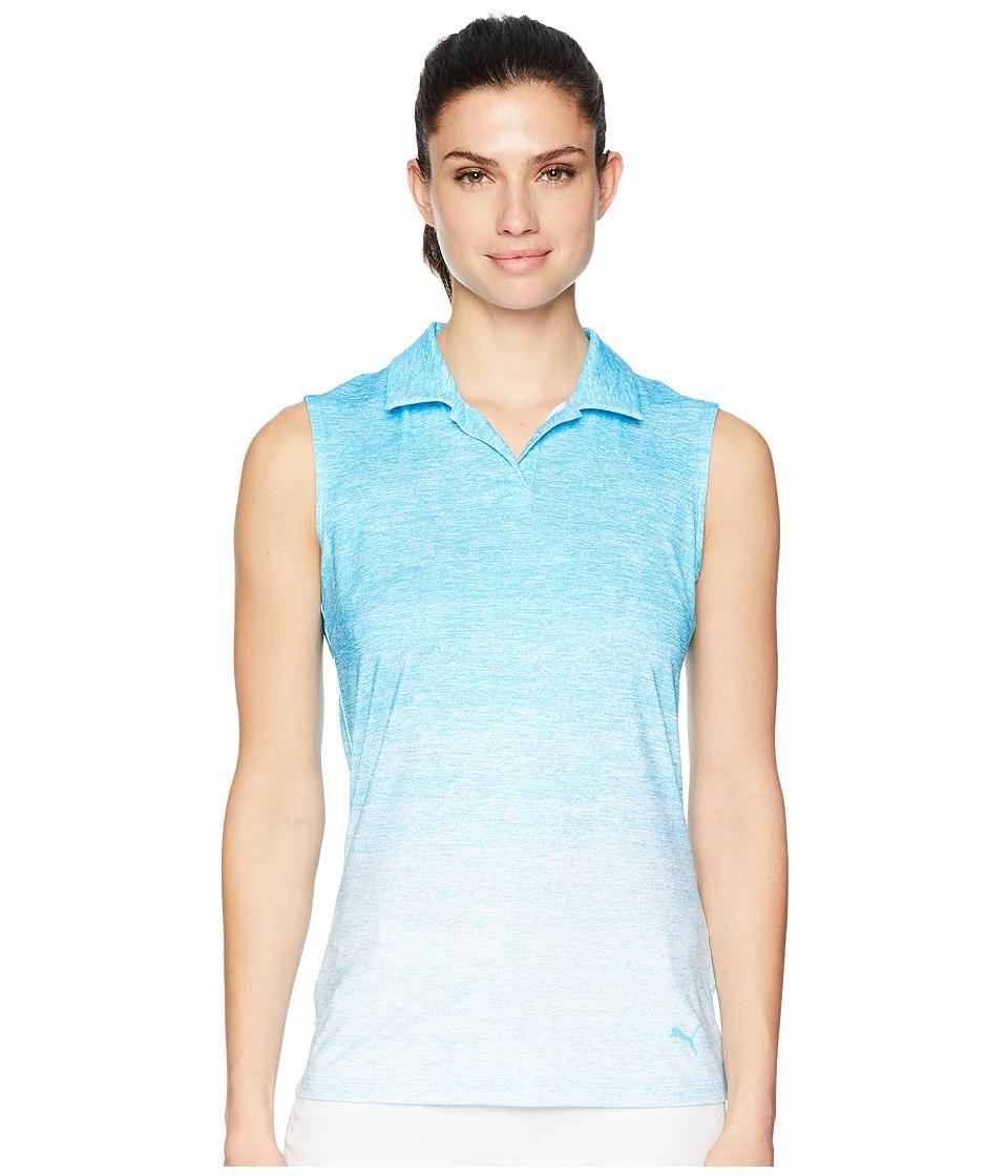 PUMA Golf - Gradient Sleeveless Polo (Aquarius) Womens Sleeveless