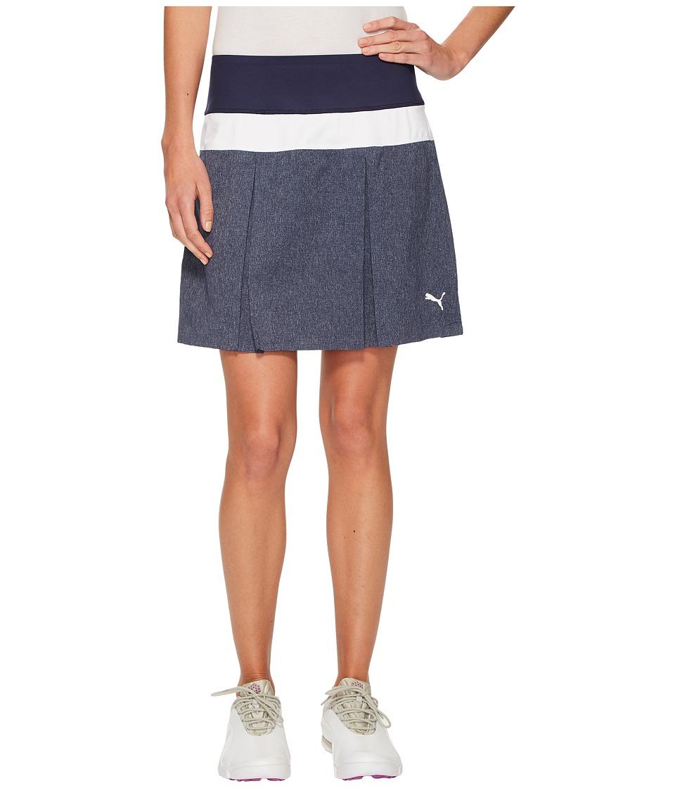 PUMA Golf - PWRSHAPE Pleated Skirt (Peacoat) Womens Skirt