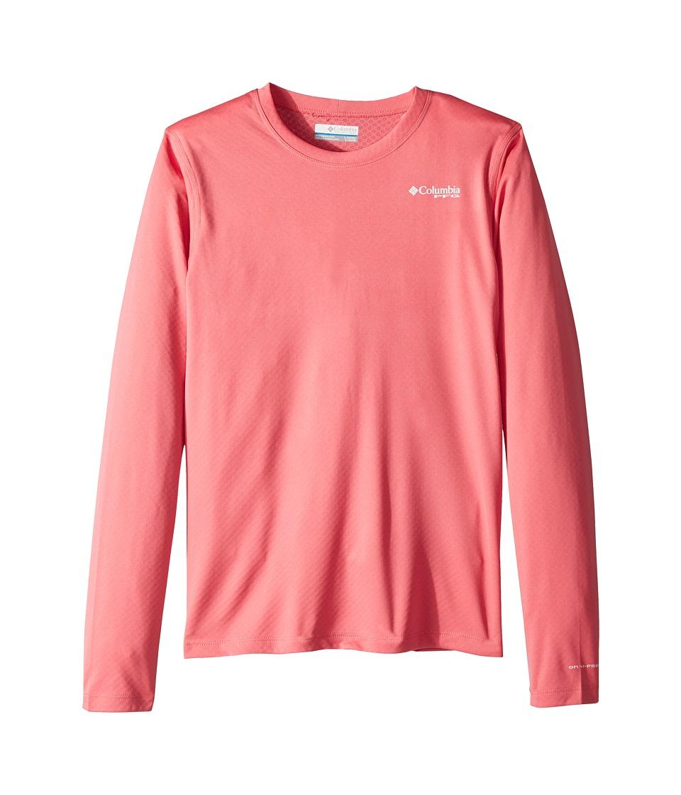Columbia Kids - PFG Zero Rules Long Sleeve Shirt (Little Kids/Big Kids) (Lollipop) Girls Long Sleeve Pullover