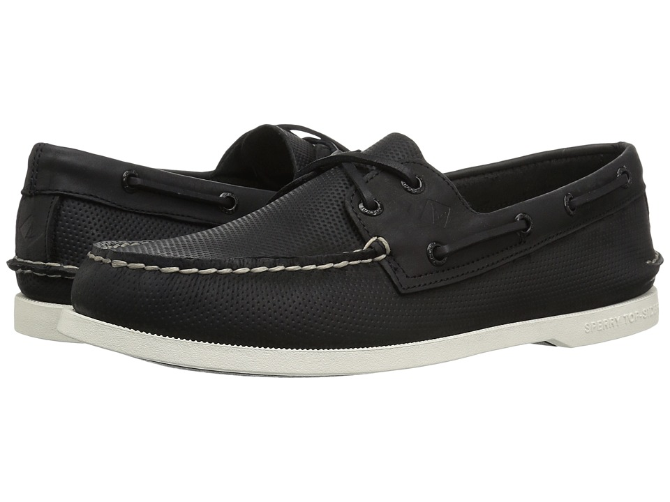 Sperry A/O 2-Eye Perforated (Black) Men