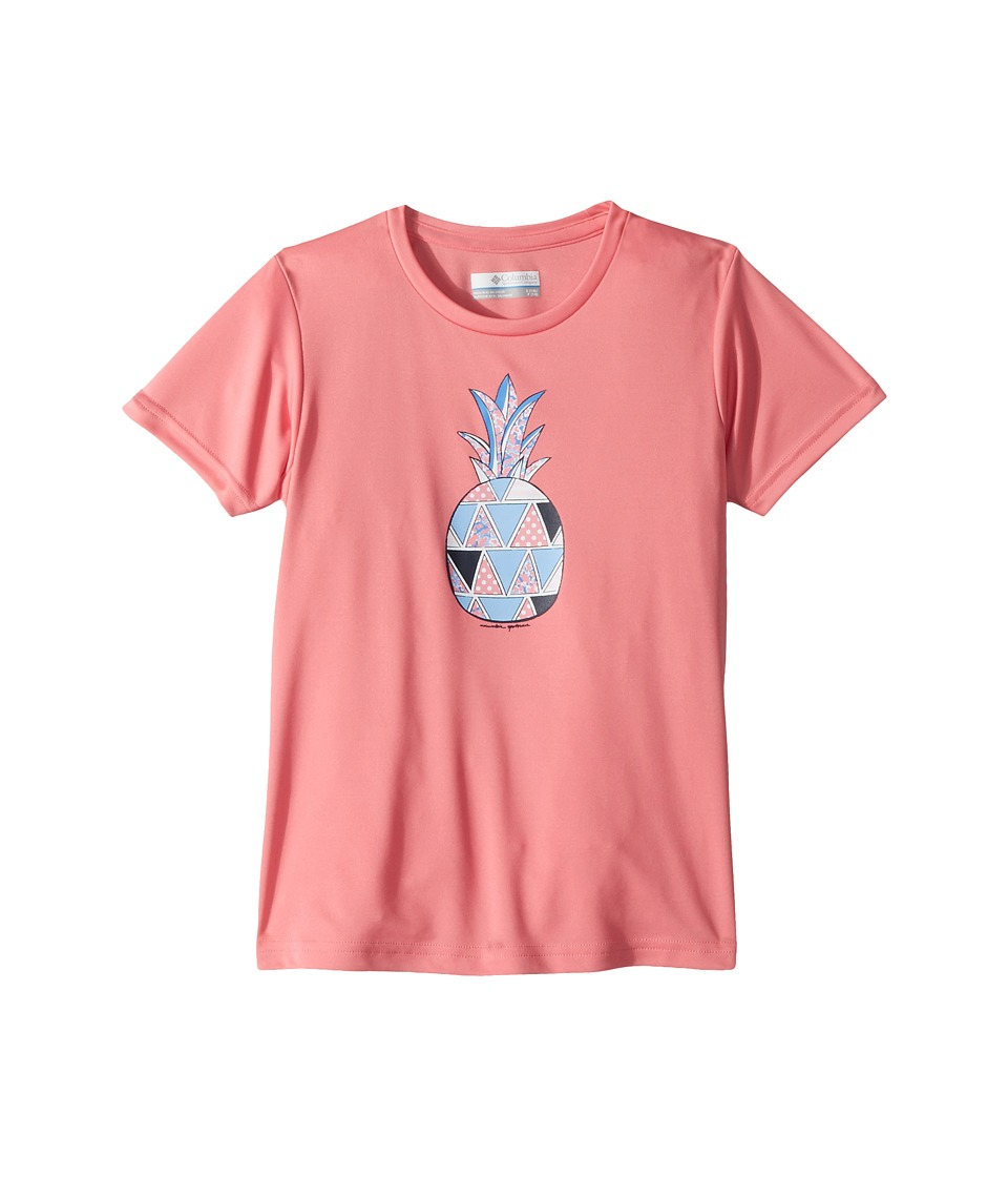 Columbia Kids - Reel Adventurer Short Sleeve Shirt (Little Kids/Big Kids) (Lollipop Pineapple Graphic) Girls Short Sleeve Pullover