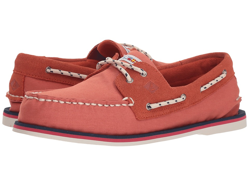 Sperry - A/O 2-Eye Nautical Canvas (Red) Mens Shoes