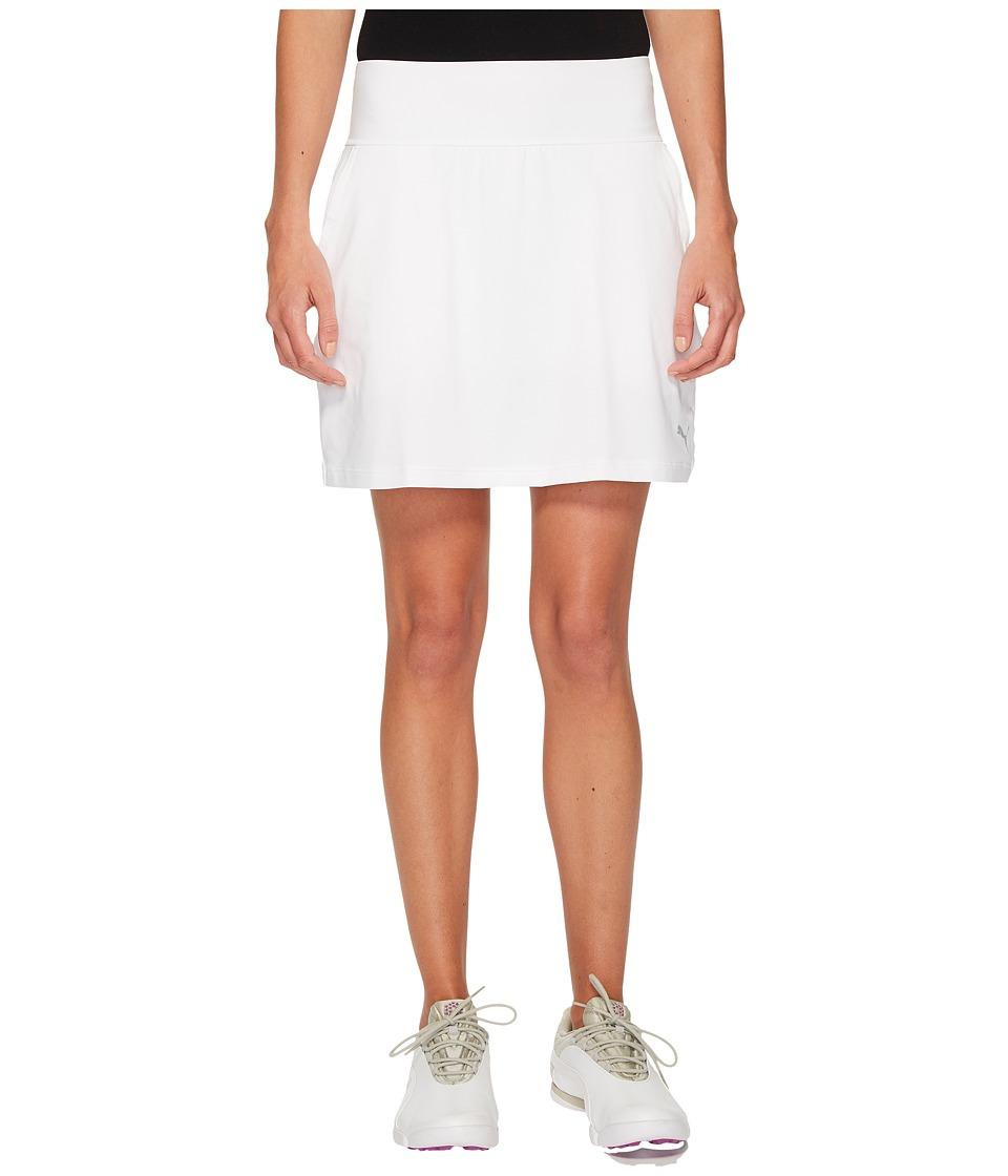 PUMA Golf - PWRSHAPE Solid Knit Skirt (Bright White) Womens Skirt
