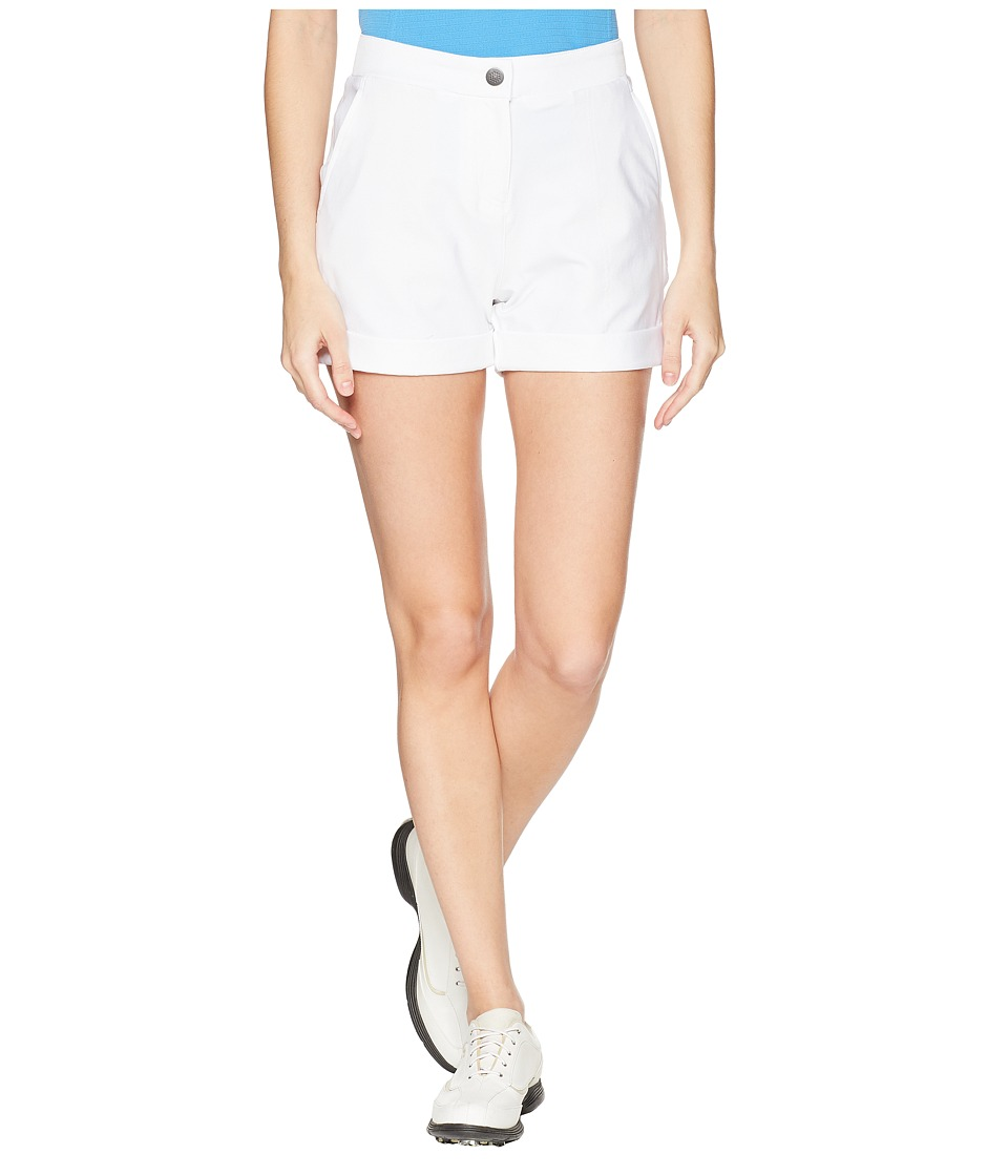 PUMA Golf - Solid Short Shorts (Bright White) Womens Shorts