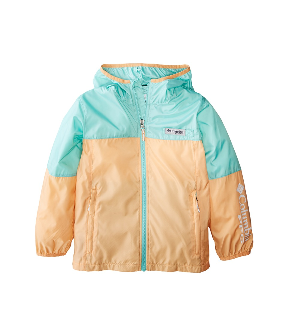Columbia Kids - Terminal Spray Windbreaker (Little Kids/Big Kids) (Light Juice/Pixie/White) Girls Coat