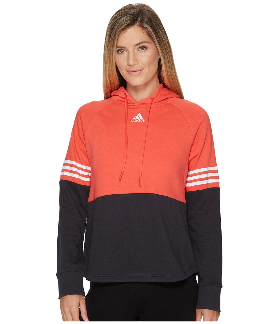 adidas Sport ID Hoodie (Real Coral/Carbon) Women