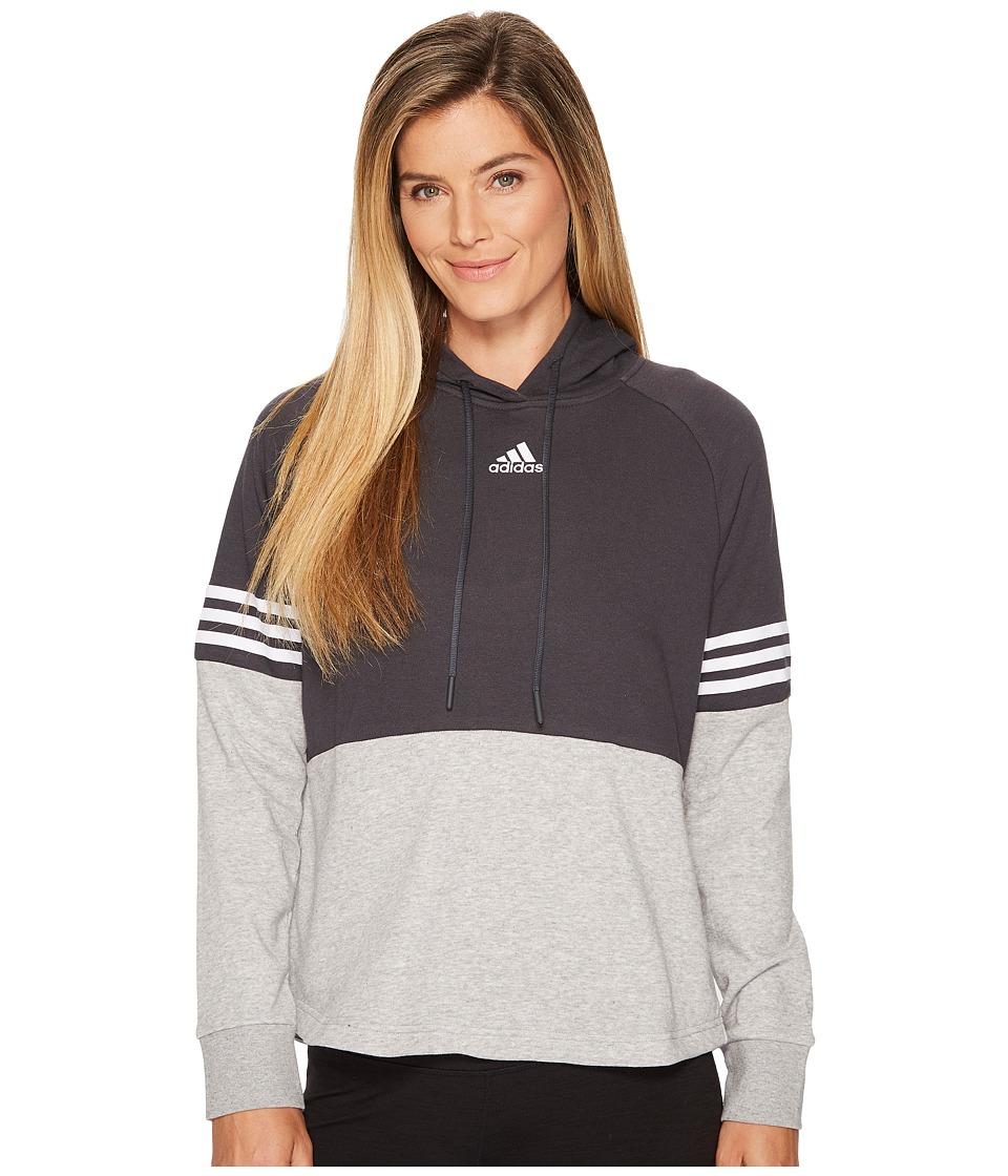 adidas Sport ID Hoodie (Carbon/Medium Grey Heather) Women