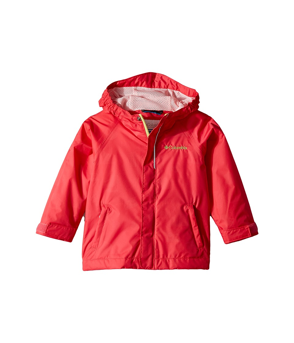 Columbia Kids - Fast Curioustm Rain Jacket (Toddler) (Punch Pink Campin Invizzaprint/Cherry Blossom) Girls Jacket