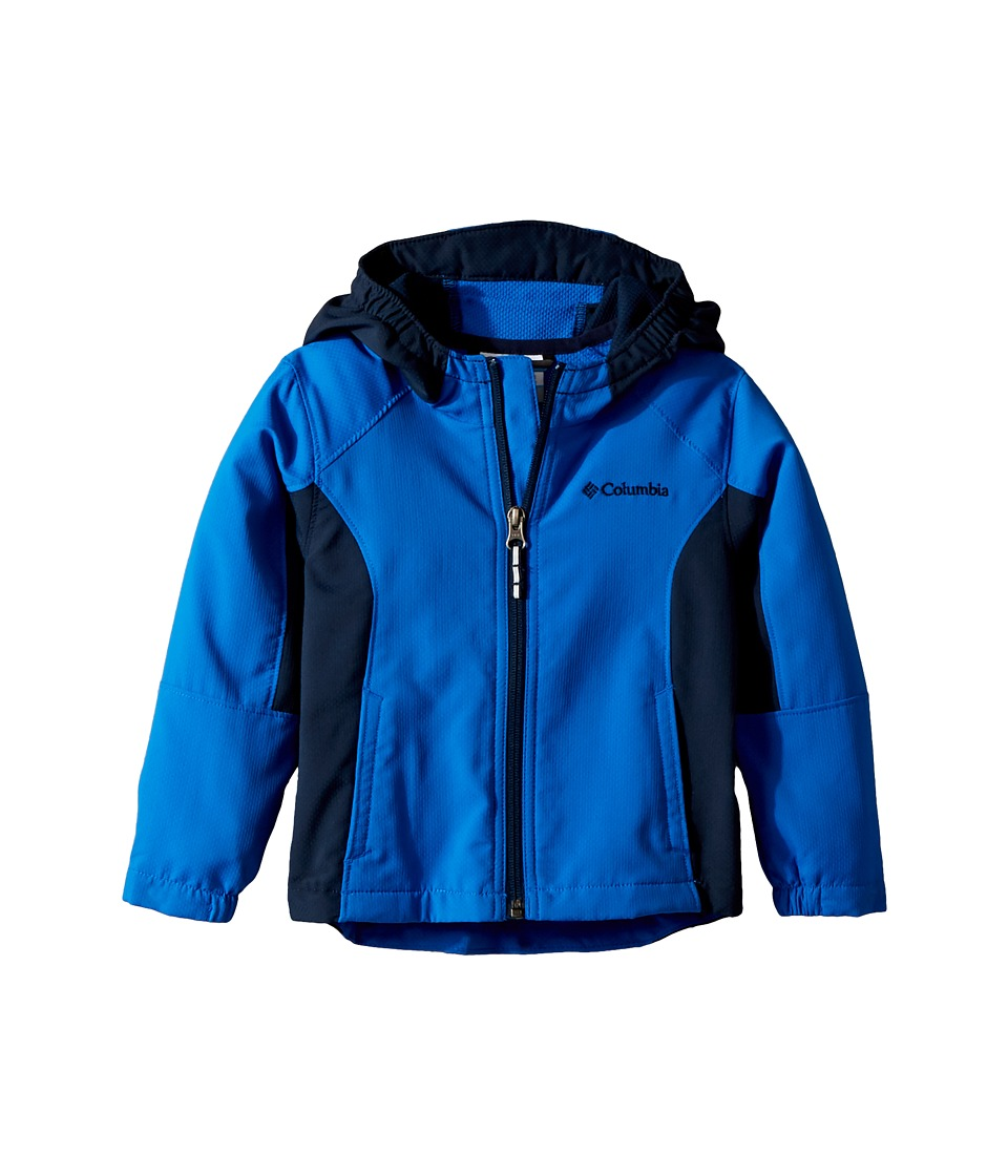 Columbia Kids - SplashFlashtm II Hooded Softshell Jacket (Toddler) (Super Blue/Collegiate Navy) Boys Coat