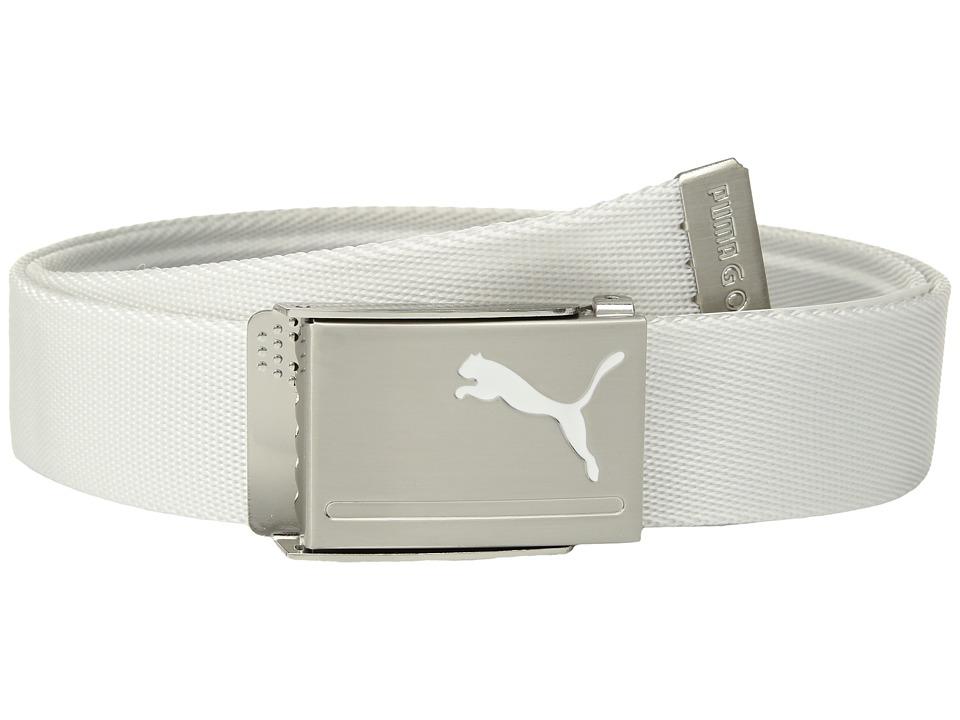 PUMA Golf - Reversible Web Belt (Quarry/Bright White) Mens Belts