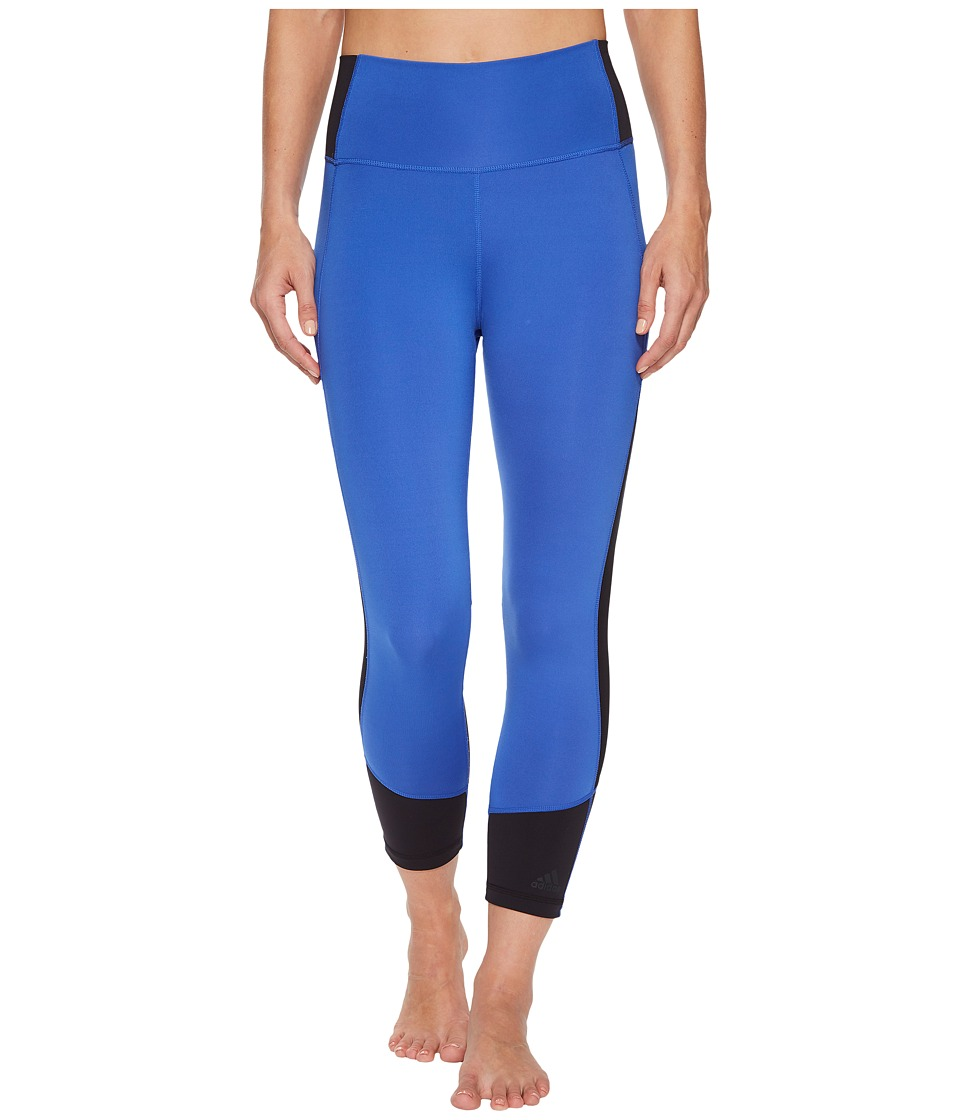adidas Believe This High-Rise Heathered 3/4 Tights (Hi-Res Blue/Black) Women