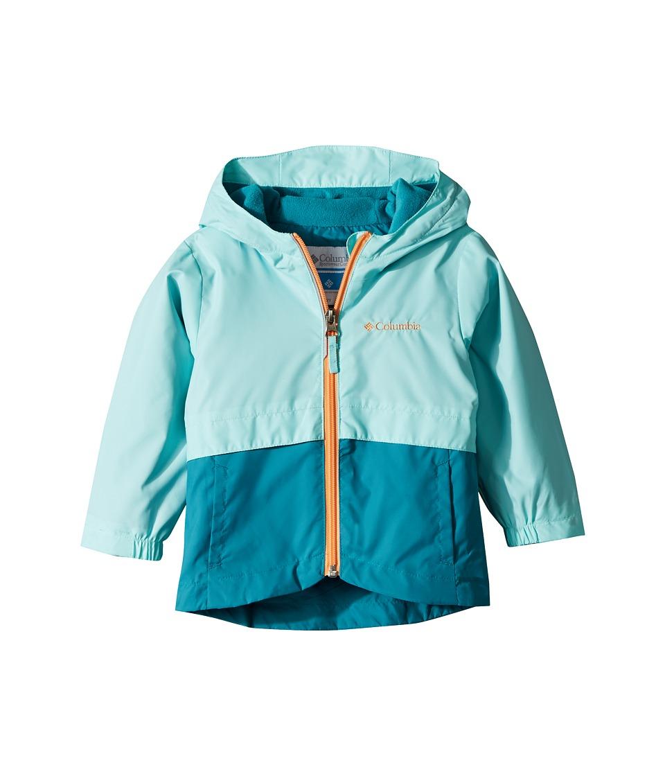 Columbia Kids Rain-Zillatm Jacket (Toddler) (Candy Mint/Emerald Sea/Peach Logo) Girl