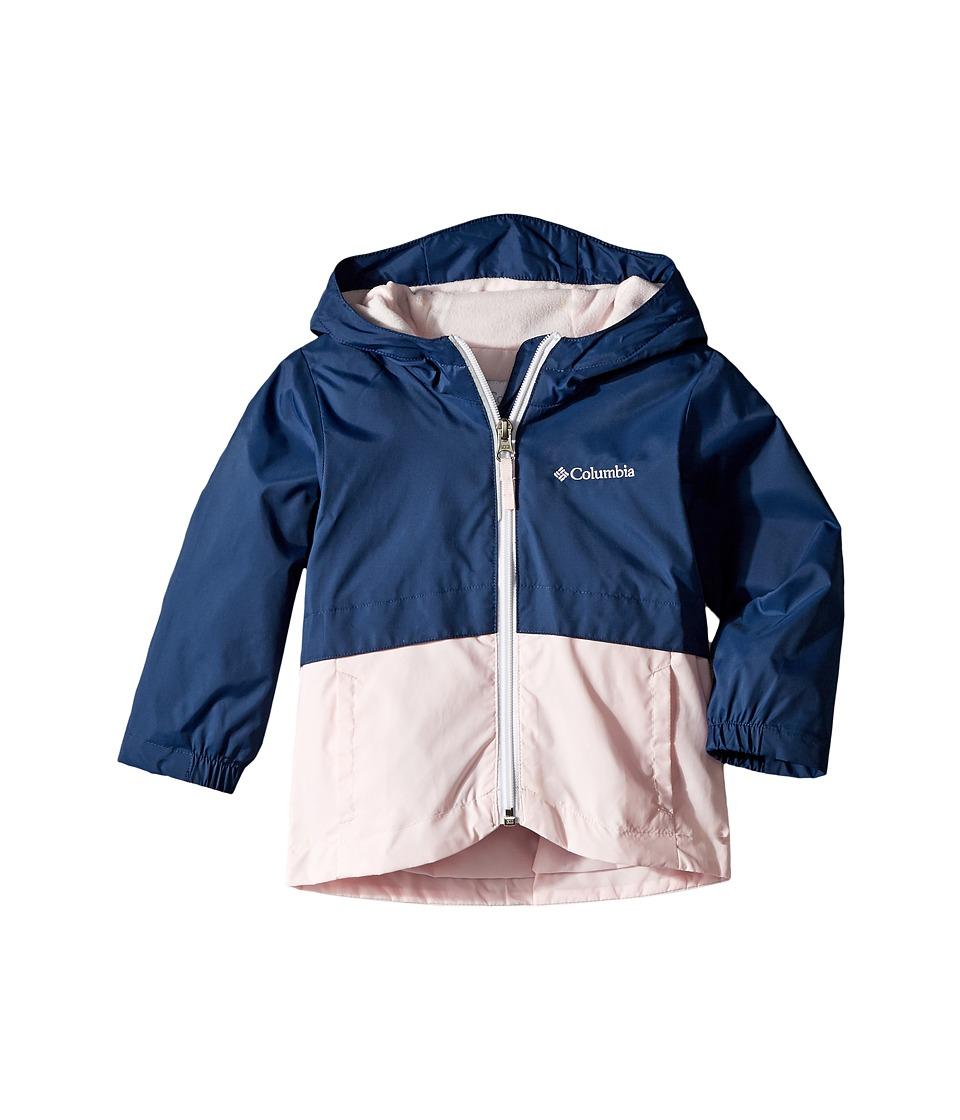 Columbia Kids Rain-Zillatm Jacket (Toddler) (Carbon/Whitened Pink/White Logo) Girl