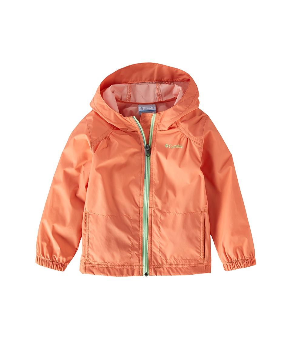 Columbia Kids Switchbacktm Rain Jacket (Toddler) (Bright Peach/Key West) Girl