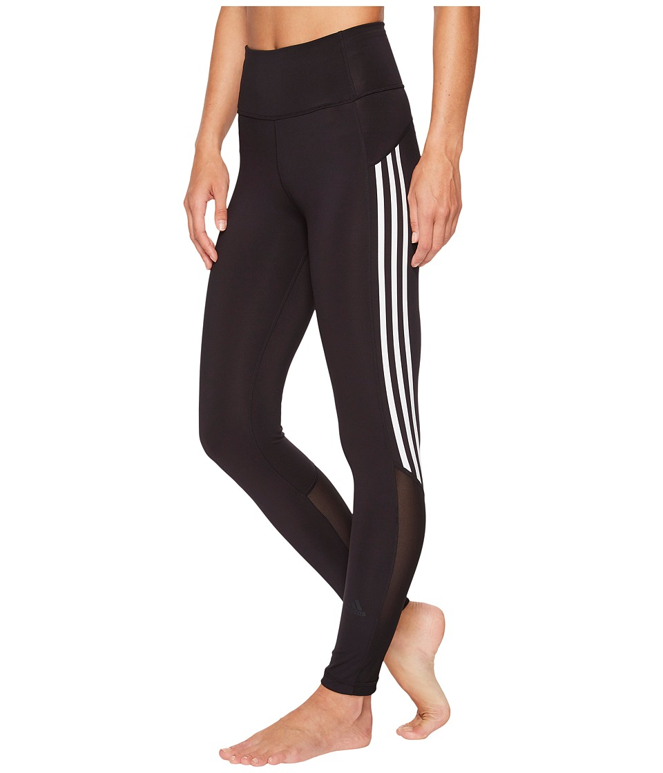 adidas Believe This High-Rise Heathered 3-Stripes 7/8 Tights (Black) Women