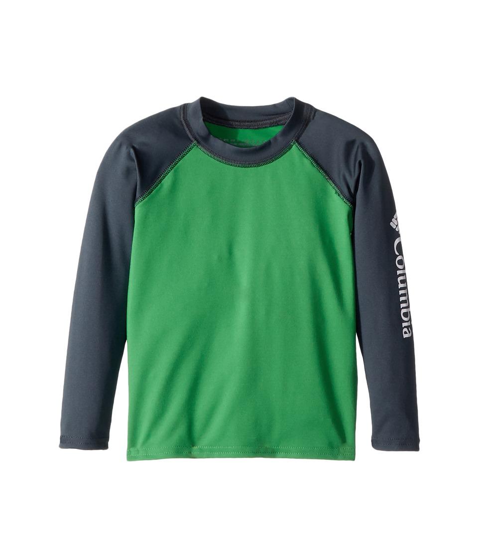 Columbia Kids - Mini Breaker Long Sleeve Sunguard (Toddler) (Fuse Green/Mystery/White) Boys Long Sleeve Pullover