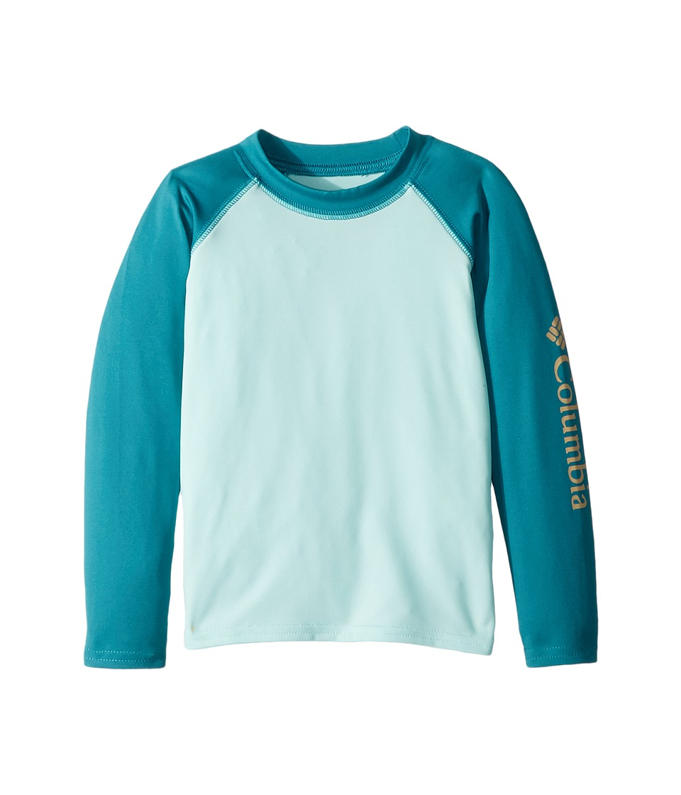 Columbia Kids - Mini Breaker Long Sleeve Sunguard (Toddler) (Candy Mint/Emerald Sea/Peach) Girls Long Sleeve Pullover