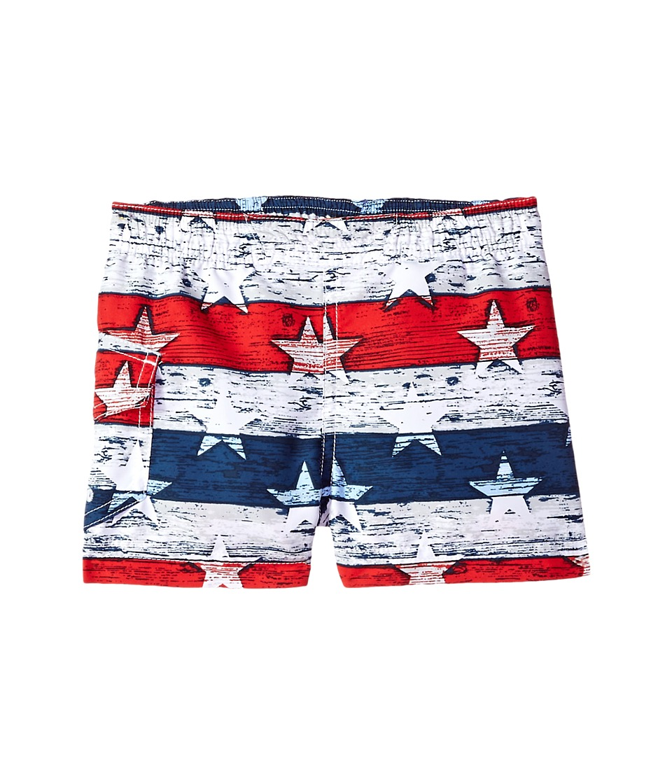 Columbia Kids - Solar Streamtm II Boardshort (Toddler) (White Stars & Stripes) Boys Swimwear