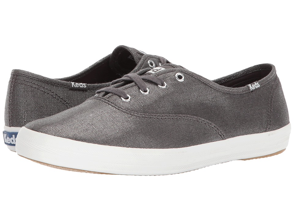 Keds - Champion Metallic Linen (Gunmetal) Womens Lace up casual Shoes