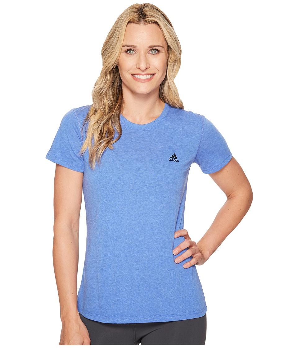 adidas Ultimate Short Sleeve Tee (Hi-Res Blue Heather) Women