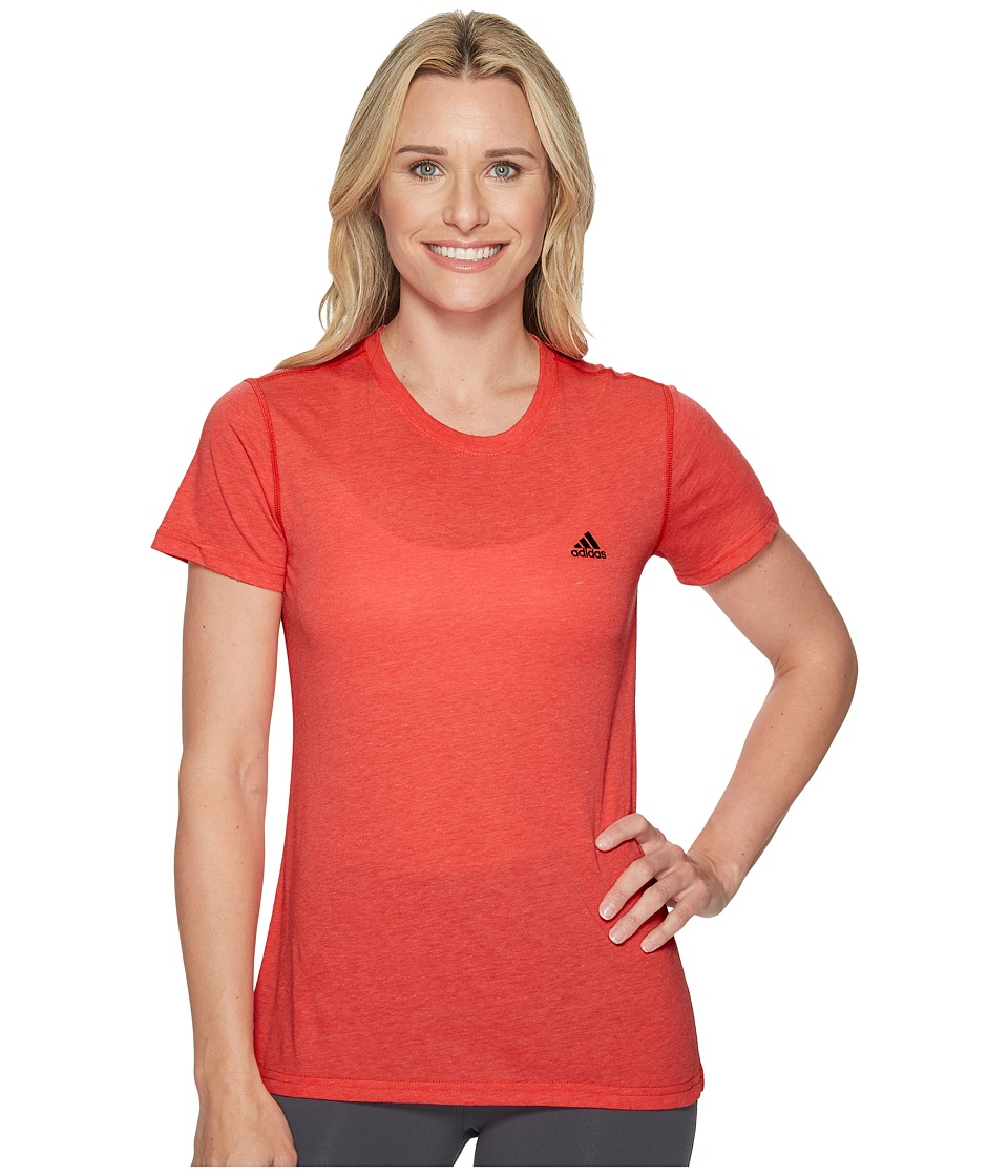 adidas Ultimate Short Sleeve Tee (Real Coral Heather) Women