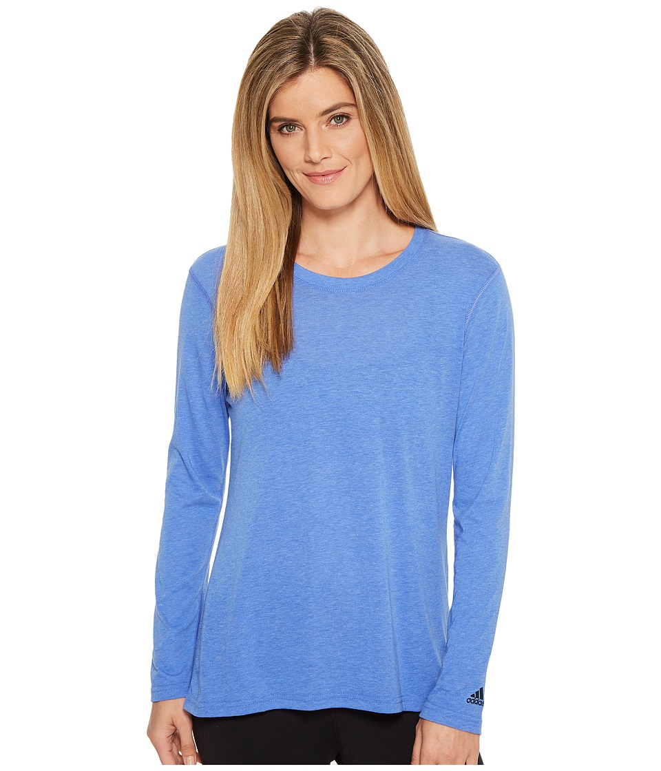 adidas Ultimate Long Sleeve Tee (Hi-Res Blue) Women
