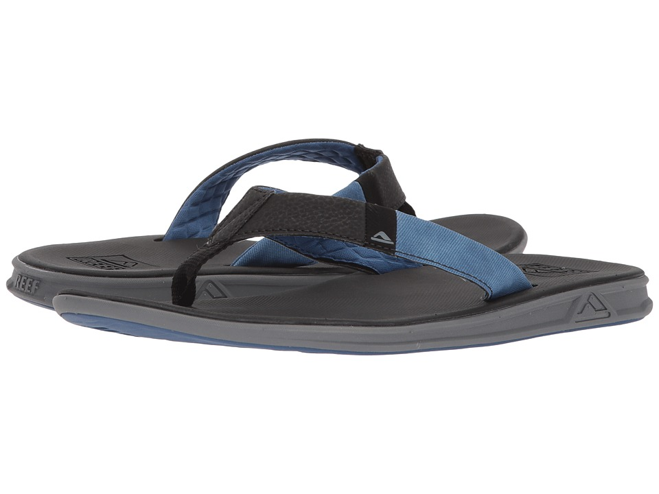 Reef - Slammed Rover (Black/Blue) Men's Sandals