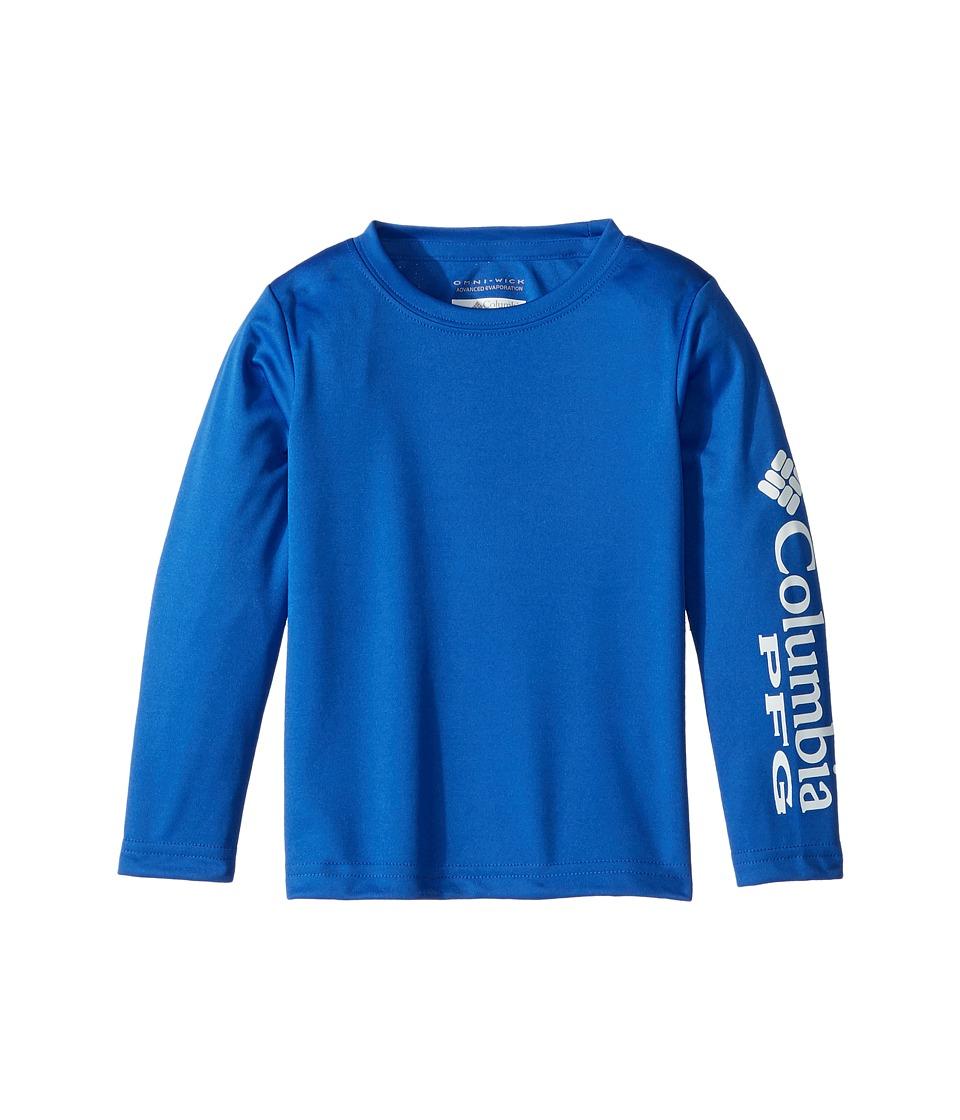 Columbia Kids - Terminal Tackle Long Sleeve Tee (Toddler) (Blue Macaw/White) Girls T Shirt