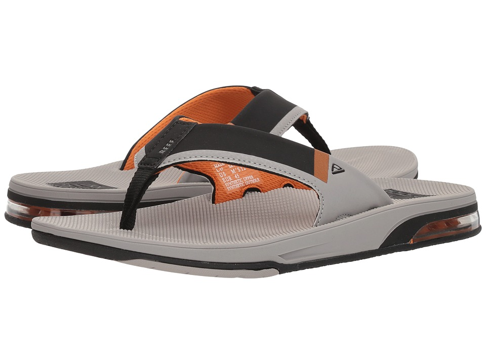 Reef - Fanning Low (Grey/Orange) Men's Sandals