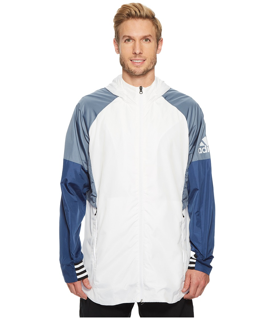 adidas Sport ID Woven Shell Jacket (White) Men