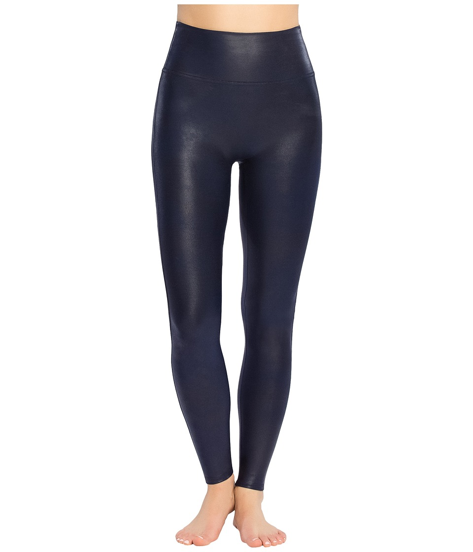 Spanx - Faux Leather Leggings (Night Navy) Womens Casual Pants