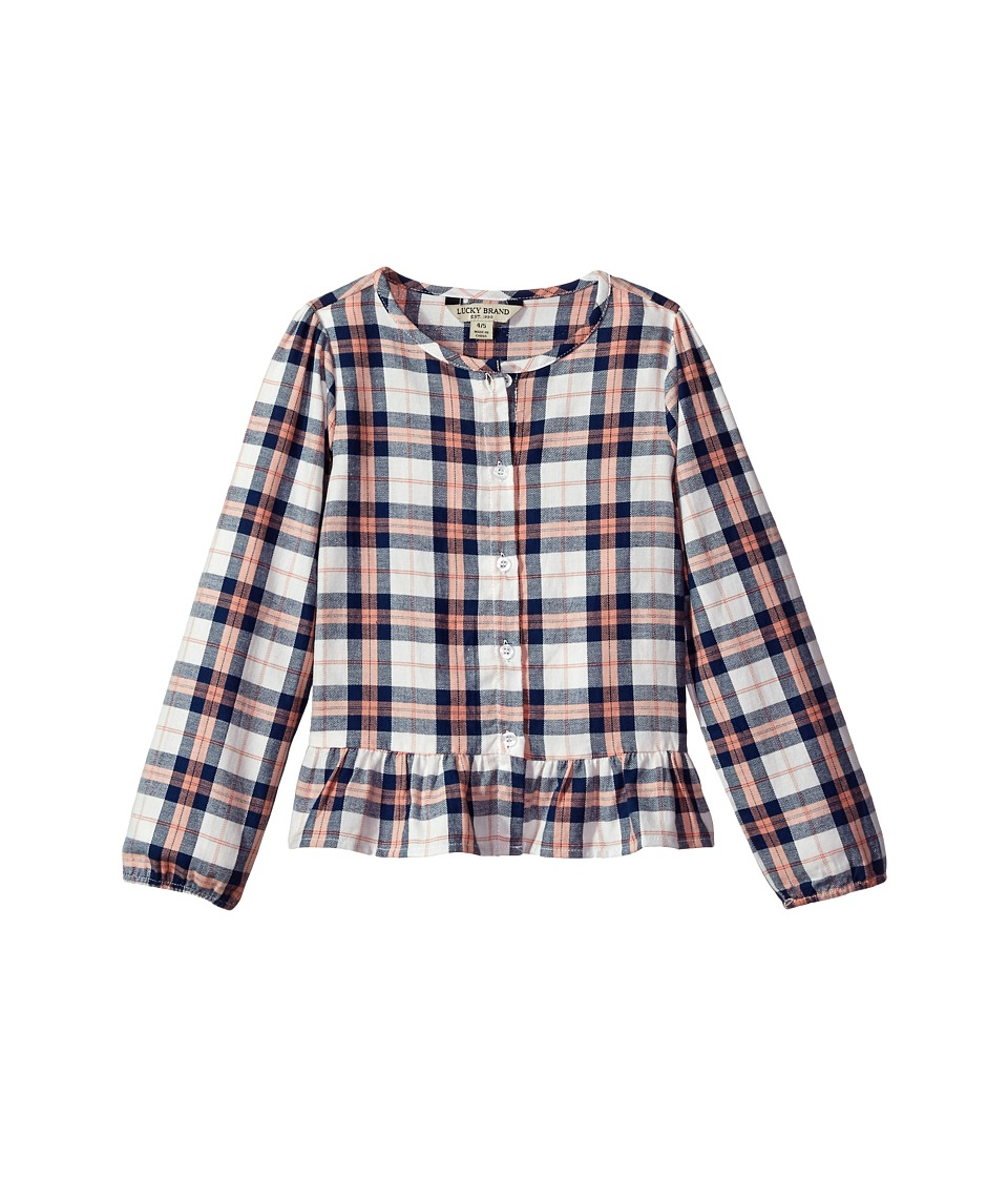 Lucky Brand Kids - Parker Yarn-Dyed Plaid Top