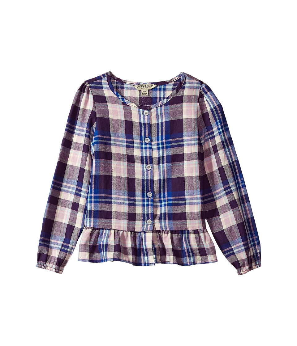 Lucky Brand Kids - Parker Yarn-Dye Plaid Top-B
