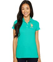 U.S. POLO ASSN. - Neon Logos Short Sleeve Polo Shirt