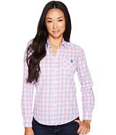 U.S. POLO ASSN. - Long Sleeve Plaid Poplin Shirt