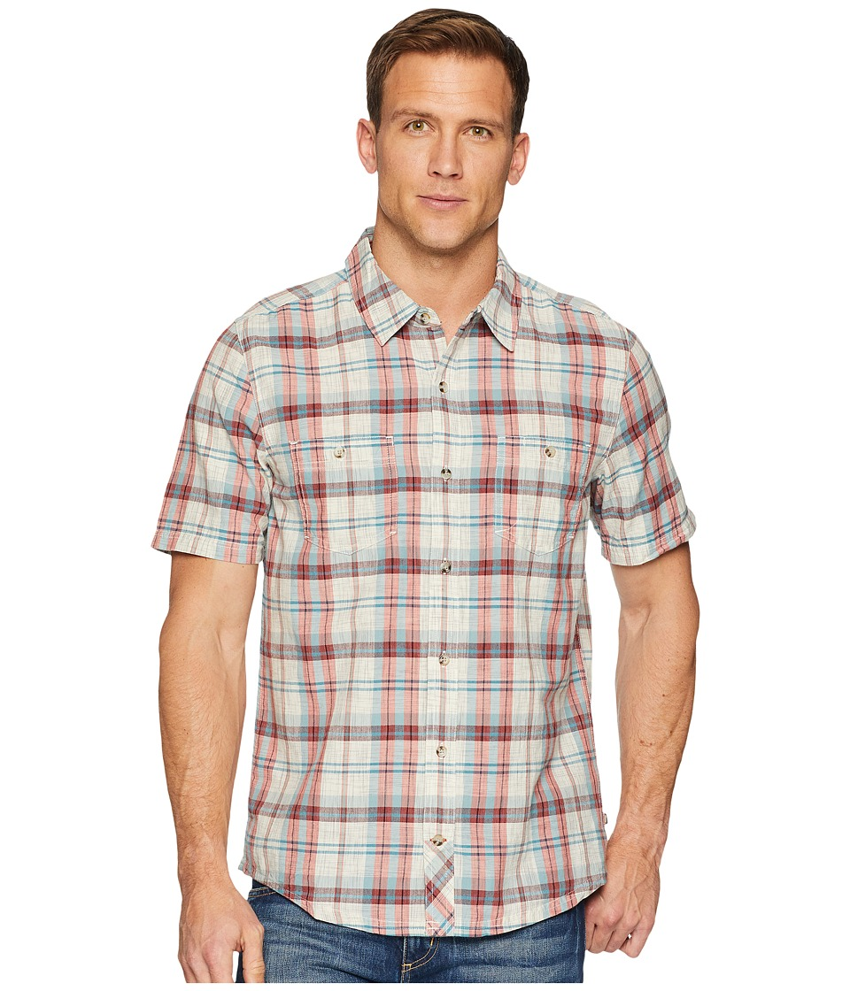 Toad&Co - Smythy S/S Shirt (Salt) Mens Short Sleeve Button Up