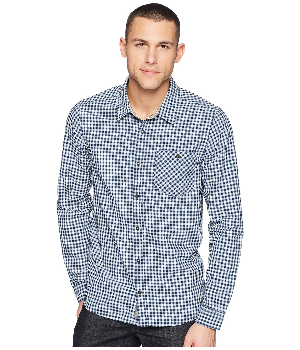 Toad&Co - Debug UPF Lightness Shirt (Deep Navy) Mens Long Sleeve Button Up