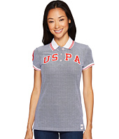 U.S. POLO ASSN. - Embellished Stretch Pique Polo Shirt
