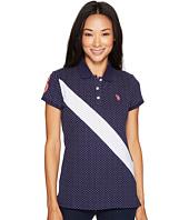 U.S. POLO ASSN. - Printed Stretch Pique Polo Shirt