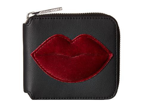 KENDALL + KYLIE Brody - Black Textured Faux Leather/Red Velvet Lips/Nickel Hw