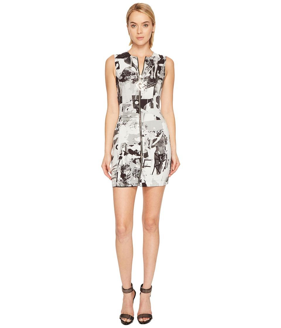 Versus Versace - Abito Donna Reversible Tessuto (Nero/Stampa Bianco/Nera) Womens Dress