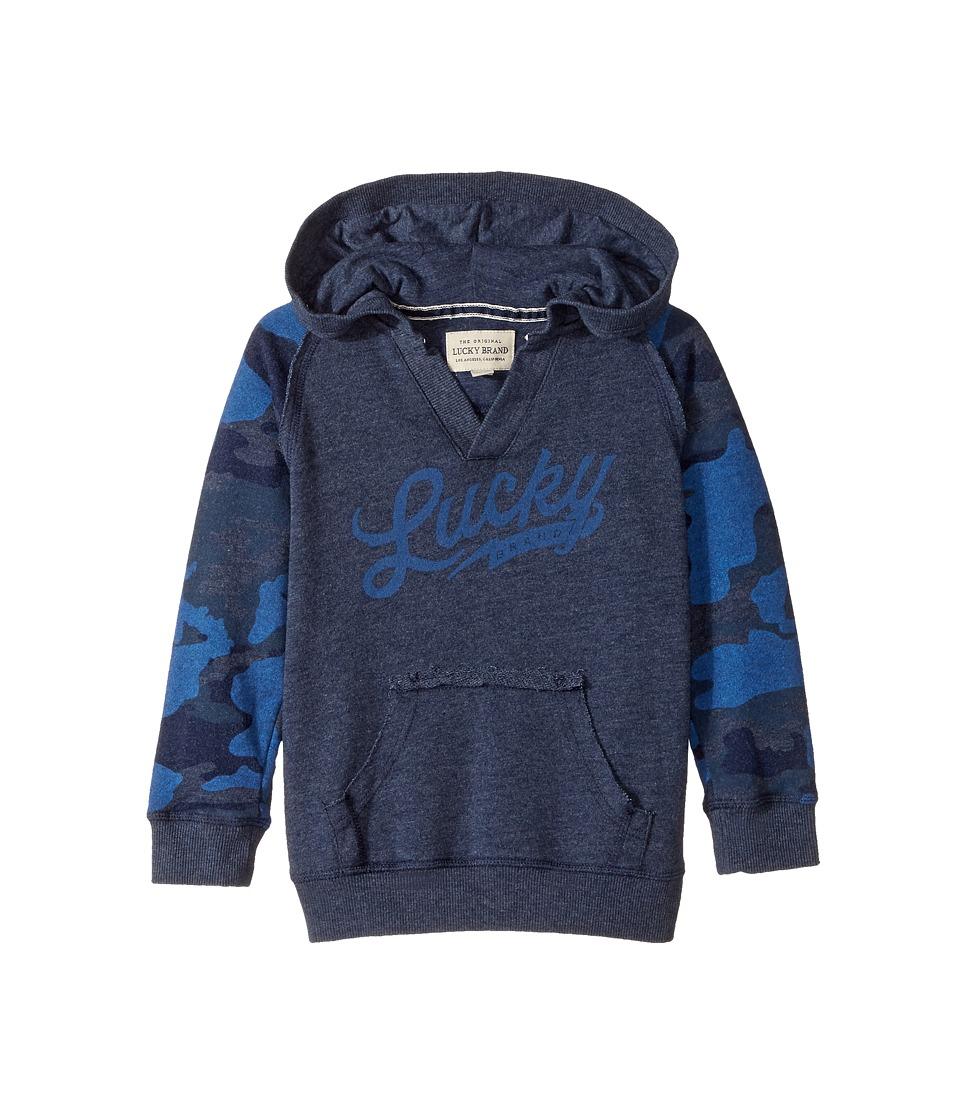 Lucky Brand Kids - Long Sleeve V-Neck Camo Hoodie