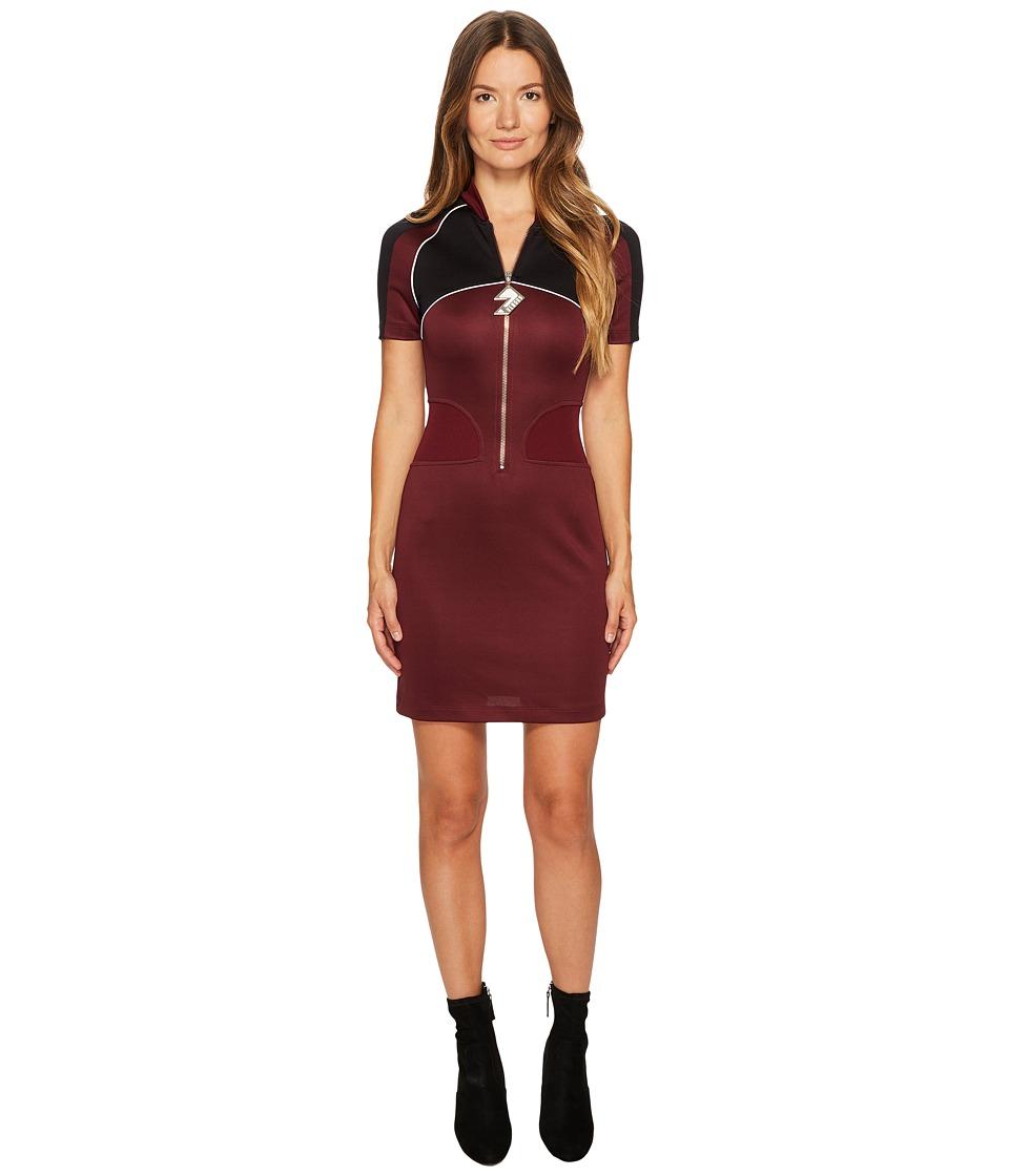 Versus Versace - Abito Donna Jersey (Burgundy/Nero) Womens Dress