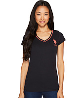 U.S. POLO ASSN. - Cotton Jersey V-Neck Big Logo T-Shirt