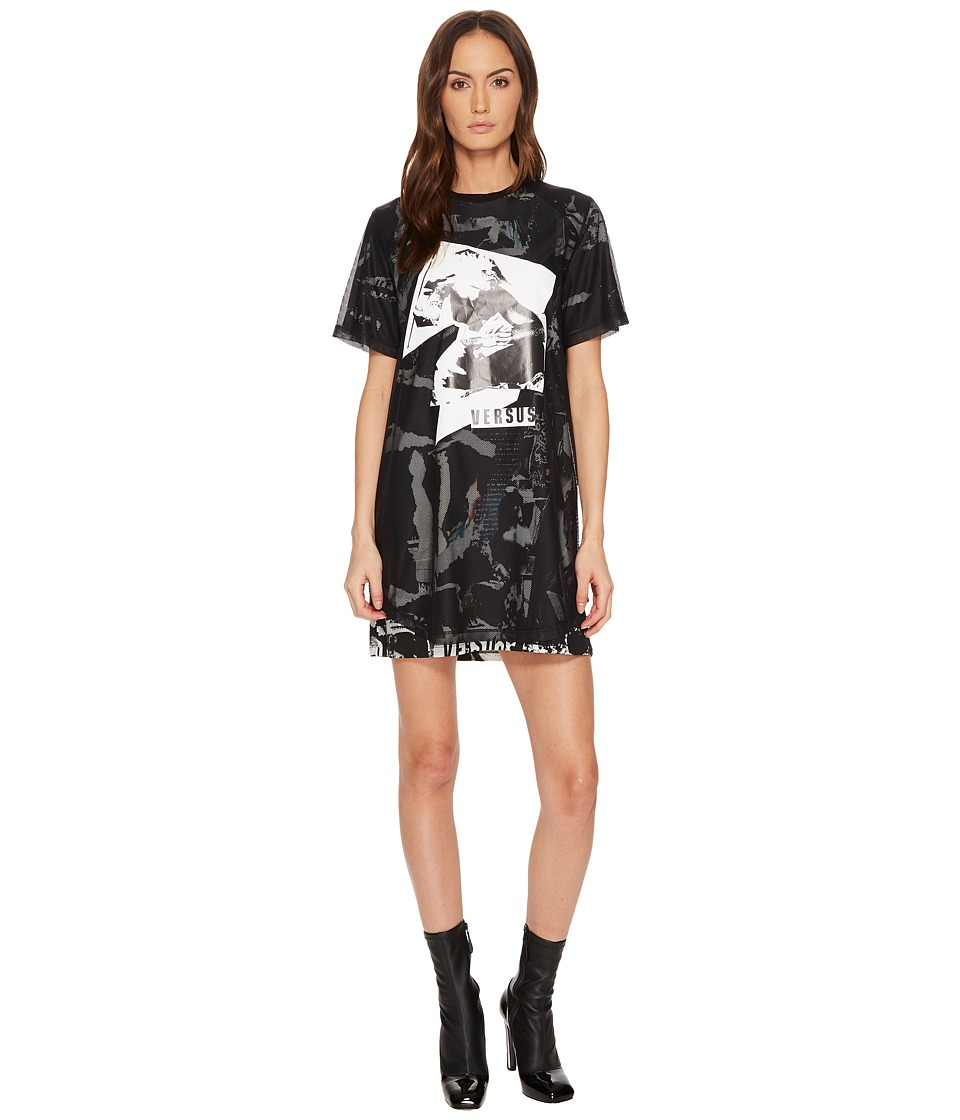 Versus Versace - Abito Donna Jersey Stampato T-Shirt Dress