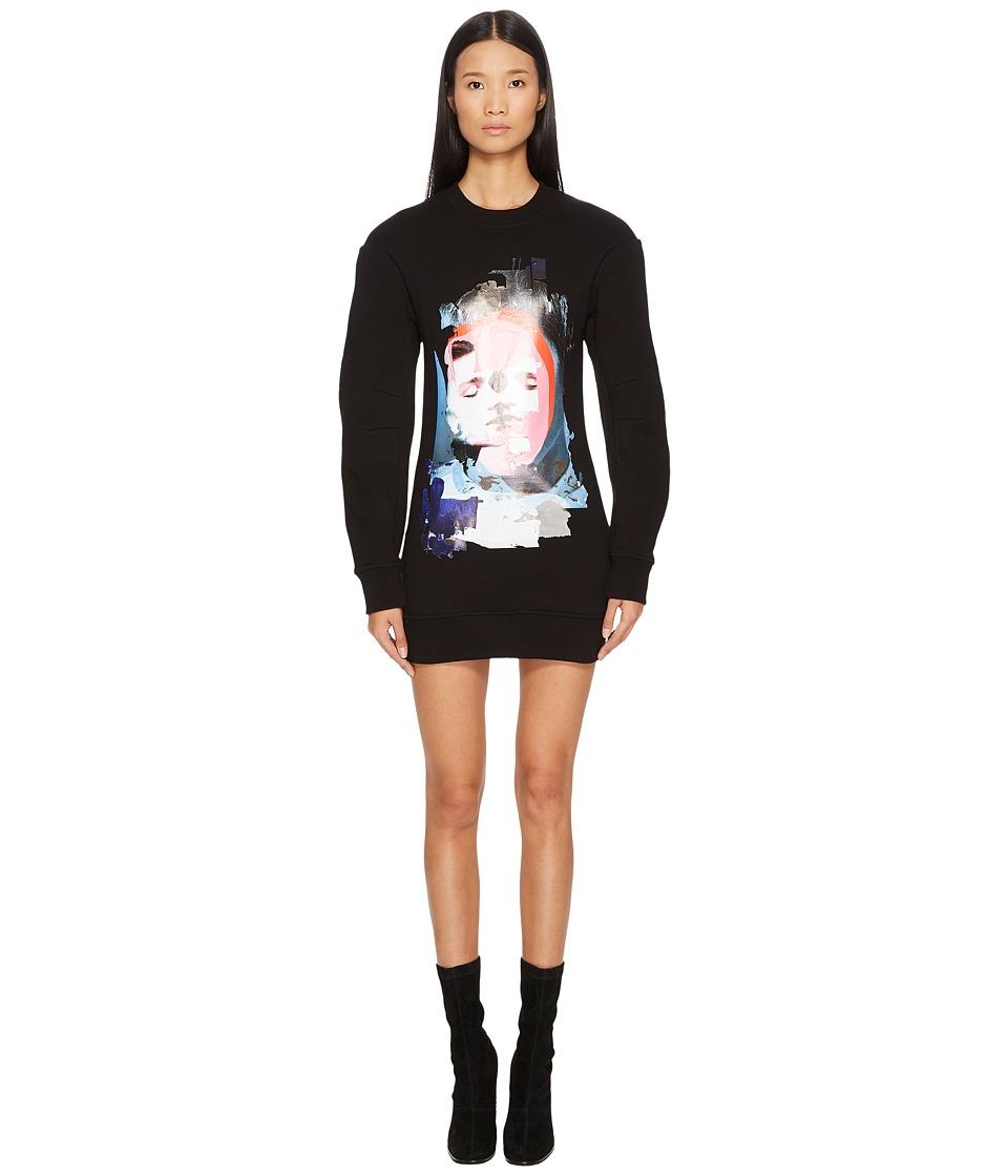 Versus Versace - Sportivo Felpa Donna Printed Sweater Dress (Black/Stampa) Womens Dress